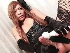 TS Kureha Kanzaki Plays With Sex Toys 2