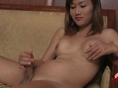 Sexy Ladyboy Ae Rubs Her Eager Dick 1