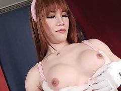 Lovely Busty Ladyboy Is Caressing Herself 3