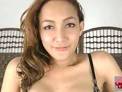 Cute Ladyboy Kareema Is Fondling Herself 3