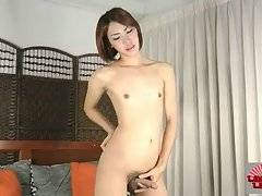 Sweet Ladyboy Soda Plays With Her Dick 2