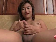 Cute Asian Tranny Plays Solo Scene 2