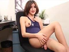 Alice is a nice 23 years ladyboy from Bangkok. She has a lighter skin, cute face, very nicely done boobs, good ass and a very thick cut cock.